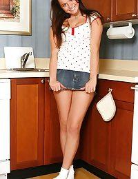 Teen with a dildo