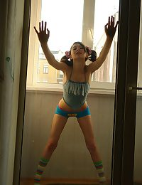 Funny girl indoors